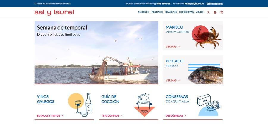 Sal y Laurel · Marisco y pescado gallego a domicilio
