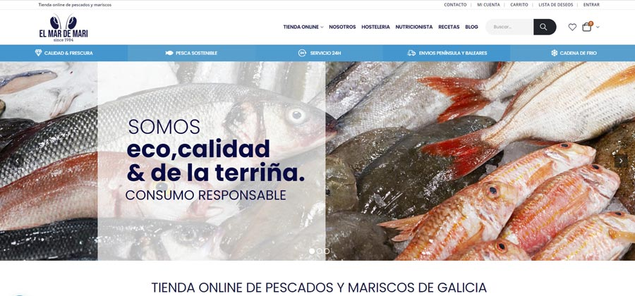 El Mar de Mari, tienda online